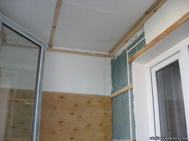 обшить балкон вагонкой утеплить лоджию своими руками - Отделка балконов и лоджий